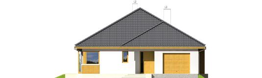 Glenas IV G1 A++ - Projekt domu Glen IV G1 - elewacja frontowa