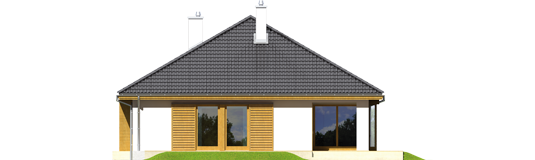 Glenas IV G1 A++ - Projekt domu Glen IV G1 - elewacja tylna