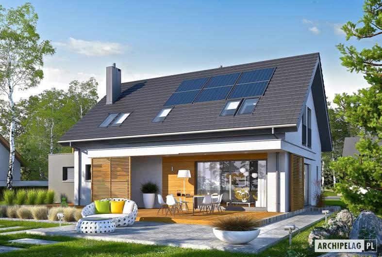 Projekt domu Logan G1 - wizualizacja ogrodowa