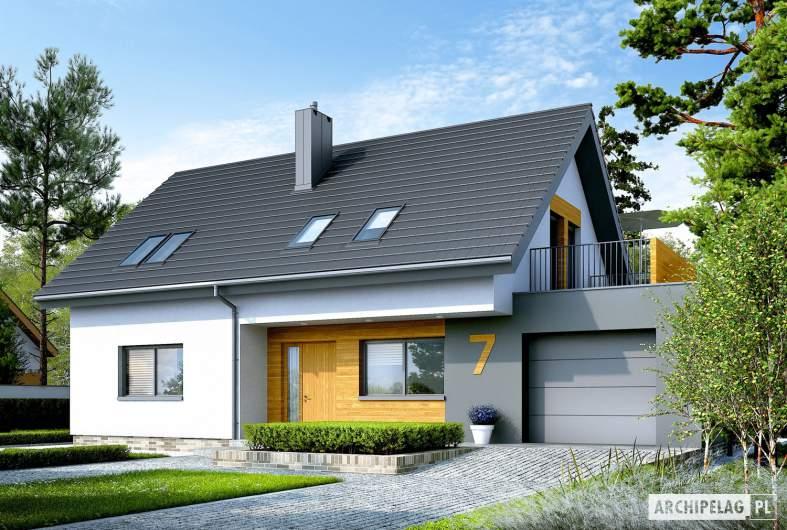 Projekt domu Logan G1 - wizualizacja frontowa