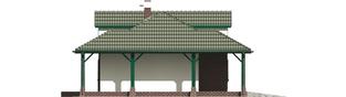 Projekt domu Szarlotta (z wiatą) - elewacja lewa