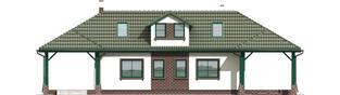Projekt domu Szarlotta (z wiatą) - elewacja frontowa