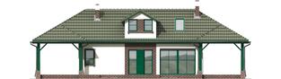 Projekt domu Szarlotta (z wiatą) - elewacja tylna
