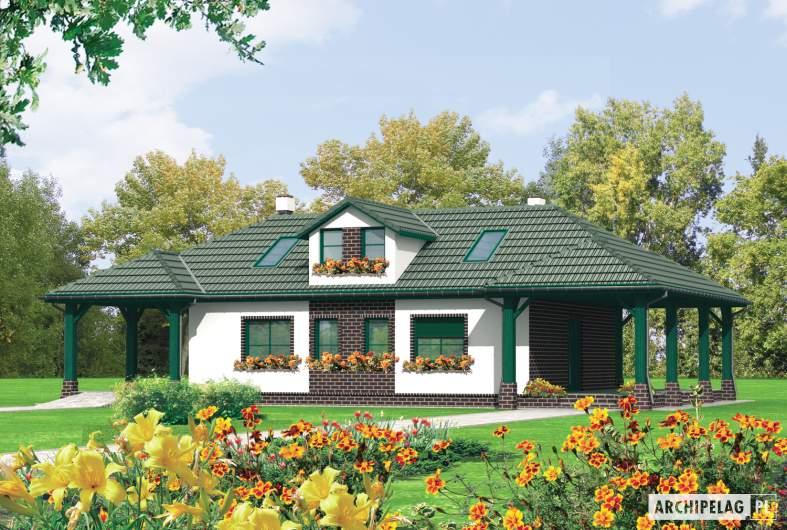 Projekt domu Szarlotta (z wiatą) -