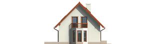 Projekt domu Irenka - elewacja lewa