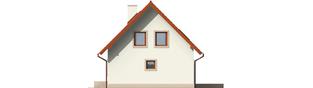 Projekt domu Irenka - elewacja prawa