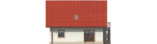 Projekt domu Irenka - elewacja tylna