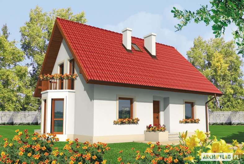 Projekt domu Irenka - wizualizacja frontowa