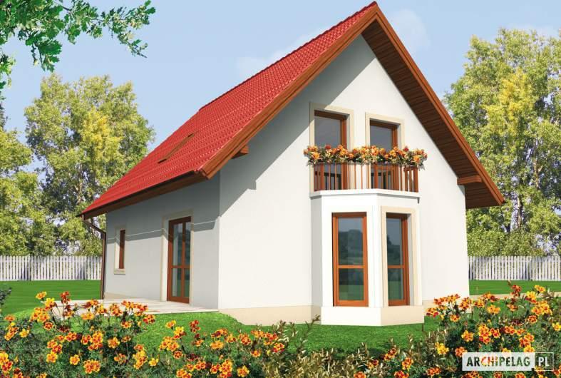 Projekt domu Irenka - wizualizacja ogrodowa