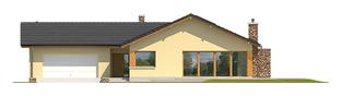 Projekt domu India G2 (wersja B) MULTI-COMFORT - elewacja frontowa