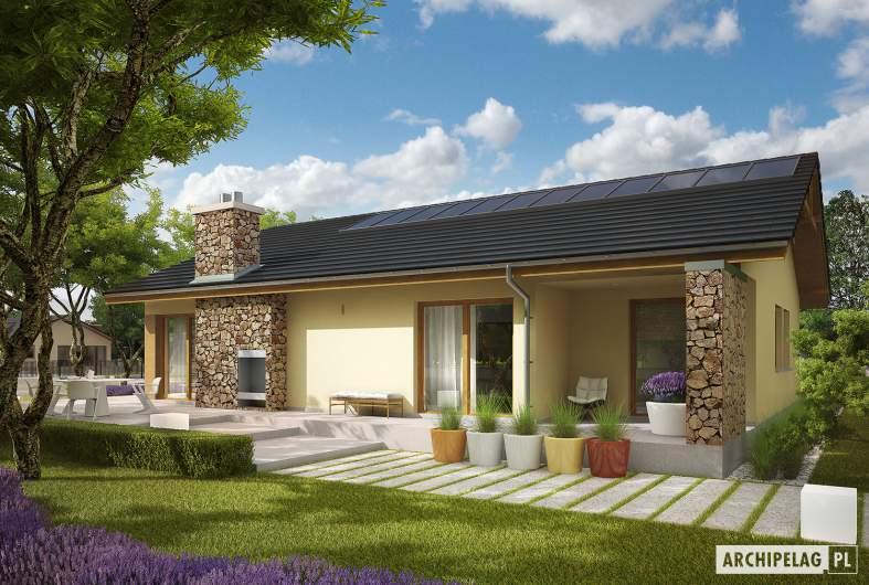 Projekt domu India G2 (wersja B) MULTI-COMFORT - wizualizacja ogrodowa