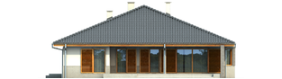 Projekt domu Florenc II G1 - elewacja tylna