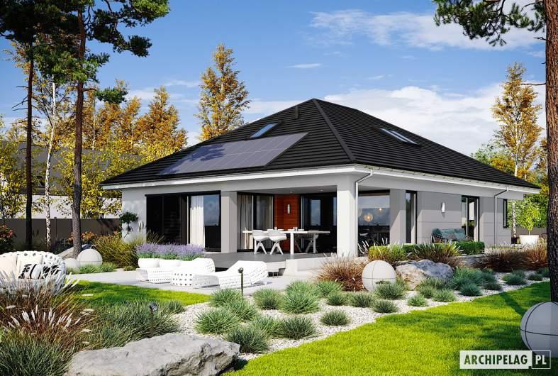 Projekt domu Alison IV G2 ENERGO PLUS reco - wizualizacja ogrodowa