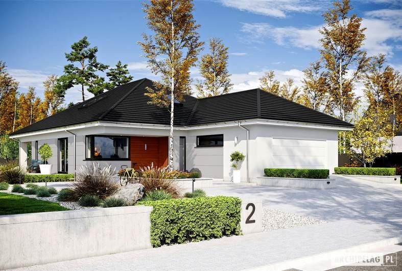 Projekt domu Alison IV G2 ENERGO PLUS reco - wizualizacja frontowa