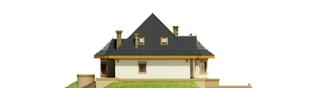 Projekt domu Tulipan G2 - elewacja lewa