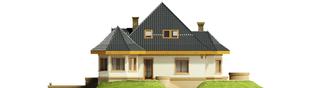 Projekt domu Tulipan G2 - elewacja prawa