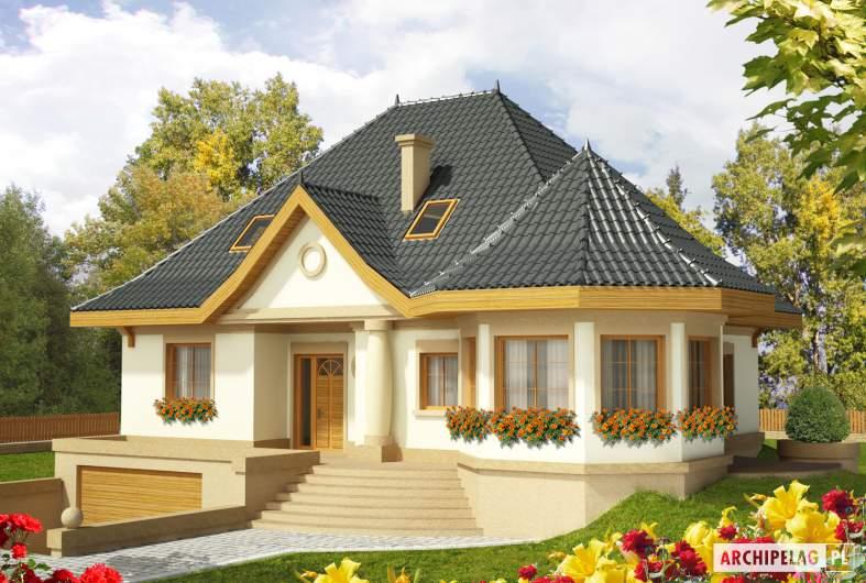 Projekt domu Tulipan G2 - wizualizacja frontowa