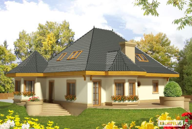 Projekt domu Tulipan G2 - wizualizacja ogrodowa