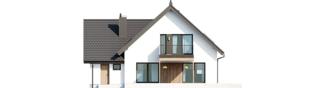 Projekt domu Mini 8 w. II G1 - elewacja tylna