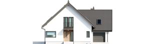 Projekt domu Mini 8 w. II G1 - elewacja frontowa