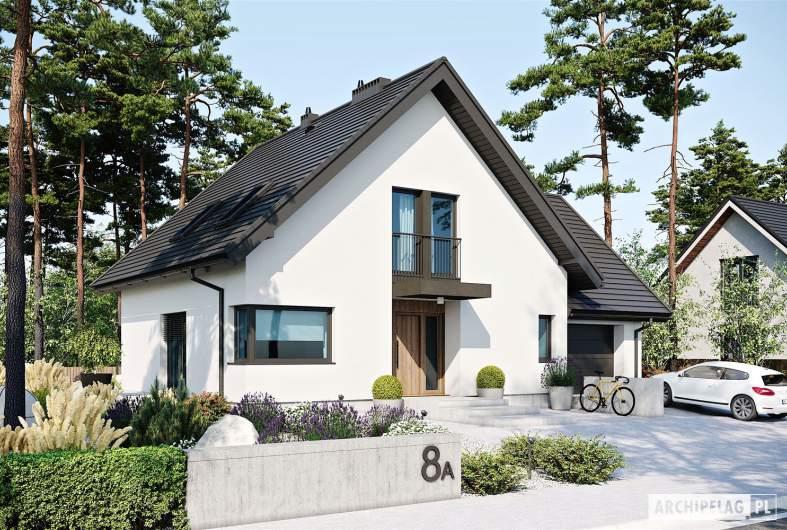 Projekt domu Mini 8 w. II G1 - wizualizacja frontowa