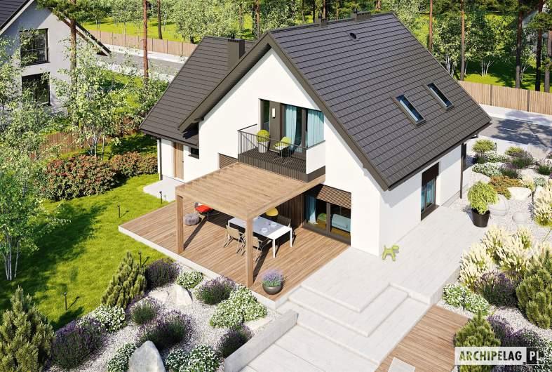Projekt domu Mini 8 w. II G1 - widok z góry