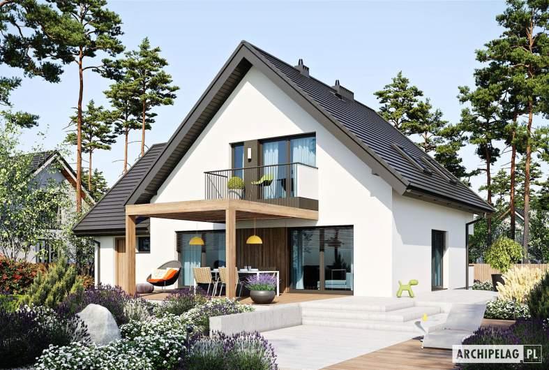 Projekt domu Mini 8 w. II G1 - wizualizacja ogrodowa