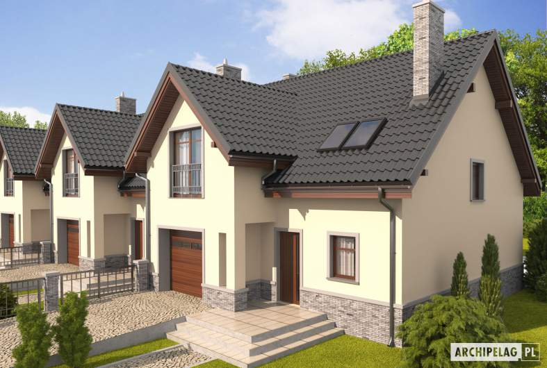 Projekt domu Simba G1 - widok z góry