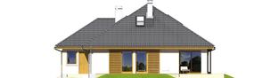 Projekt domu Glen III G2 - elewacja tylna