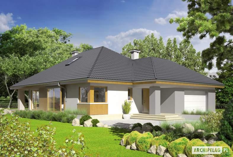 Projekt domu Glen III G2 - Projekty domów ARCHIPELAG - Glen III G2 - wizualizacja frontowa