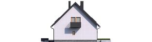 Projekt domu Mini 5 - elewacja prawa