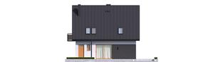 Projekt domu Mini 5 - elewacja tylna