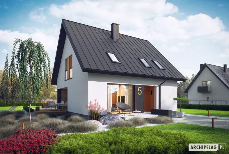 Projekt domu Mini 5 - wizualizacja frontowa