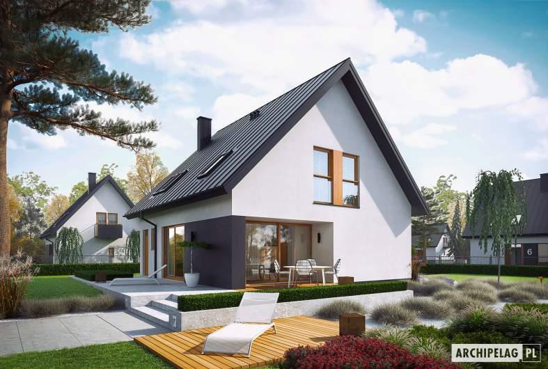 Projekt domu Mini 5 - wizualizacja ogrodowa