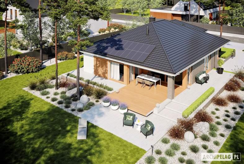 Projekt domu Alison G2 - widok z góry