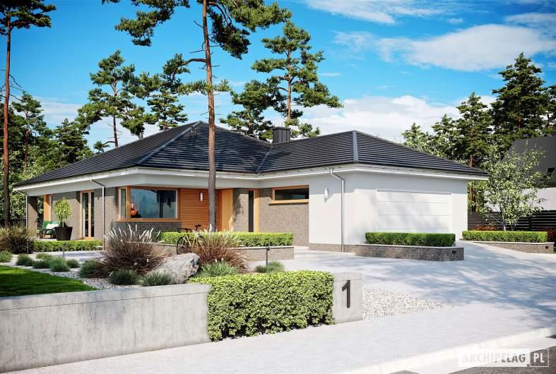 Projekt domu Alison G2 - wizualizacja frontowa