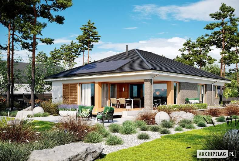 Projekt domu Alison G2 - wizualizacja ogrodowa