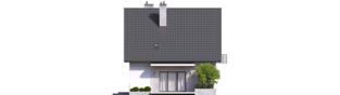 Projekt domu Dagna - elewacja tylna