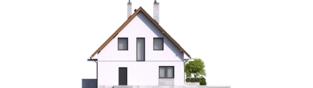 Projekt domu Dagna - elewacja prawa