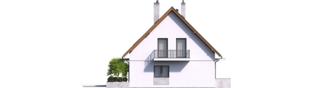 Projekt domu Dagna - elewacja lewa