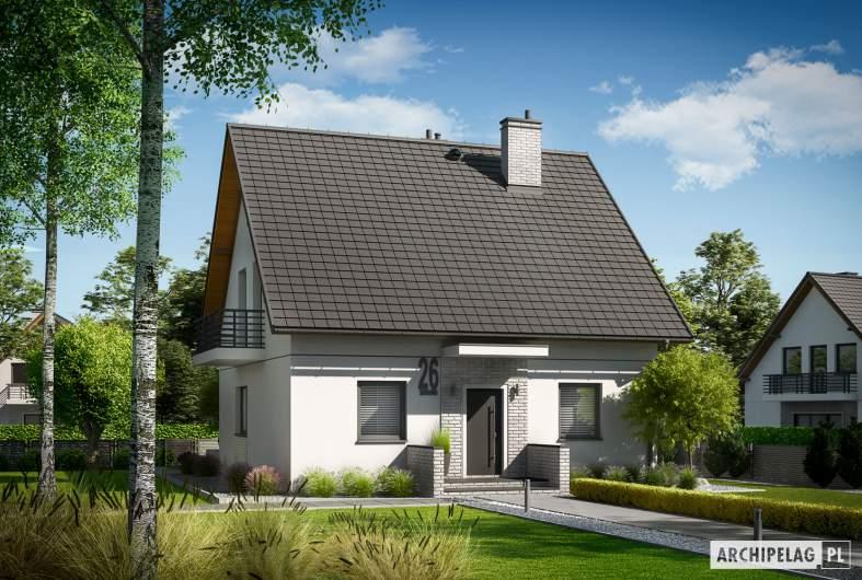 Projekt domu Dagna - wizualizacja frotowa