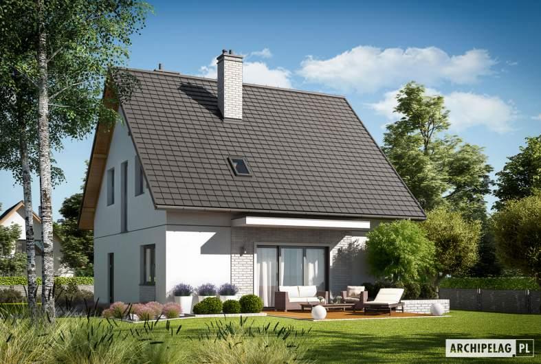 Projekt domu Dagna - wizualizacja ogrodowa