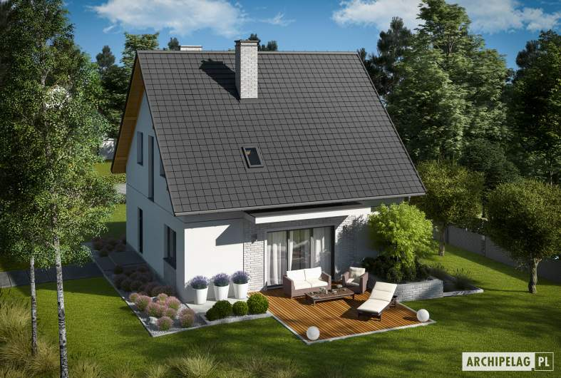 Projekt domu Dagna - widok z góry