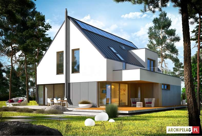 Projekt domu Adam G2 ENERGO PLUS - wizualizacja ogrodowa