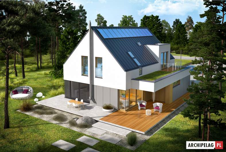 Projekt domu Adam G2 ENERGO PLUS - widok z góry