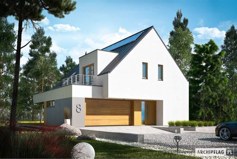 Projekt domu Adam G2 ENERGO PLUS - wizualizacja frontowa