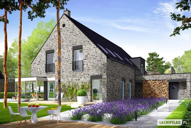Projekt domu Teodor G2 (wersja C) ENERGO PLUS reco - wizualizacja ogrodowa