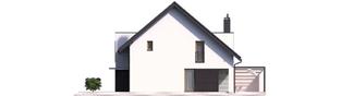 Projekt domu Konrad G1 (bliźniak) ENERGO PLUS - elewacja prawa
