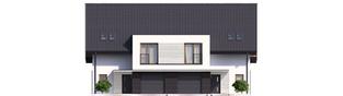 Projekt domu Konrad G1 (bliźniak) ENERGO PLUS - elewacja frontowa