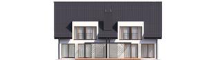 Projekt domu Konrad G1 (bliźniak) ENERGO PLUS - elewacja tylna